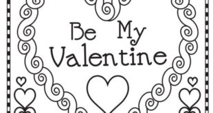 valentines day coloring pages pdf