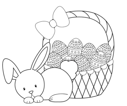 Happy Easter Day Coloring Pages 2020