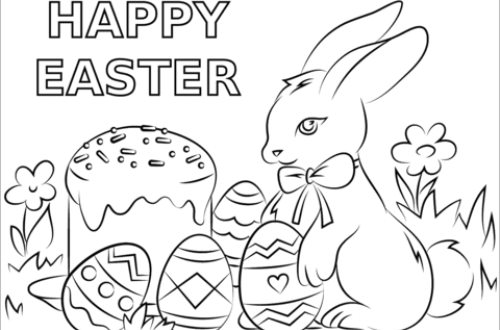 Happy Easter Free Easter Coloring Sheets For Kids All Round Hobby