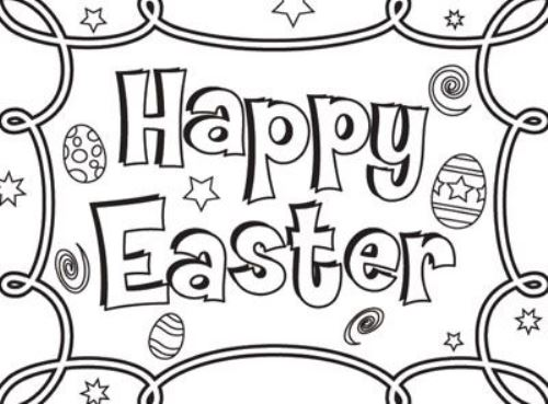 black and white easter coloring pages