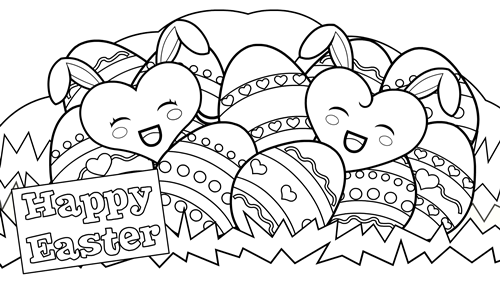 Happy Easter Egg coloring pages 2020