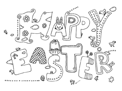 Easter Bunny coloring pages 2020