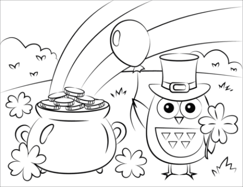 It's just a photo of Shamrock Coloring Pages Printable intended for preschool
