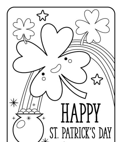 Saint Patrick's day coloring pages
