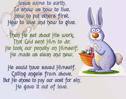 short easter poems for children's church