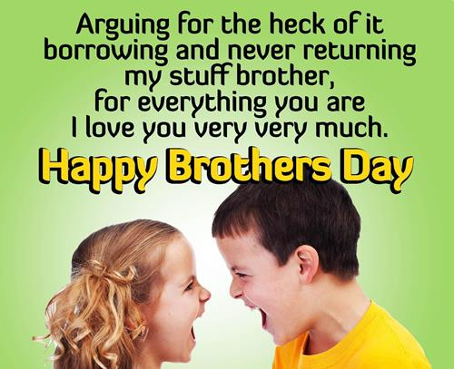 Happy Brothers Day Wishes Quotes