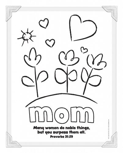 Mother Day Coloring pages 2020
