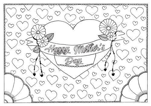 Mother Day Coloring Sheets