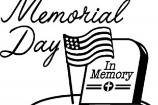 Free Black and White Memorial Day Clip Art