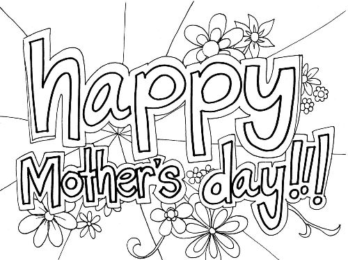 Mother's Day Coloring Pages