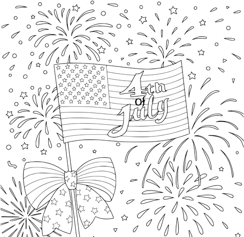 Free Printable Happy 4th Of July Coloring Pages 2021