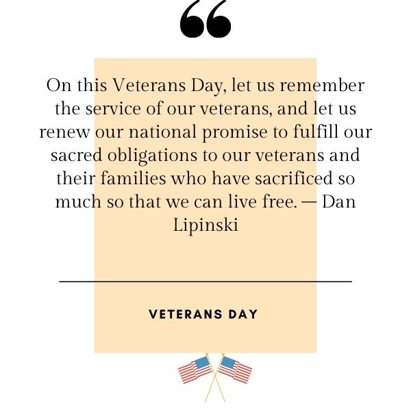 Inspirational Veterans Day Quotes and Sayings