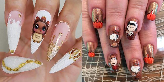 Thanksgiving Acrylic Nails