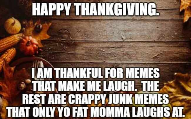 thanksgiving day memes funny