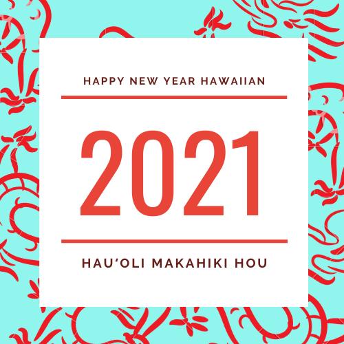 Happy New Year in Hawaiian