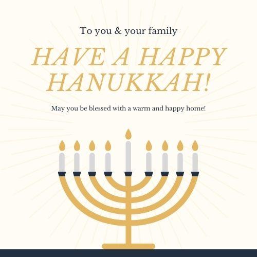 Hanukkah Greetings for Cards