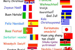 Merry Christmas in 15 Different Languages