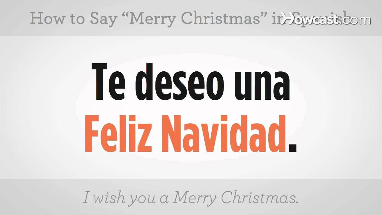 Say Merry Christmas in Spanish