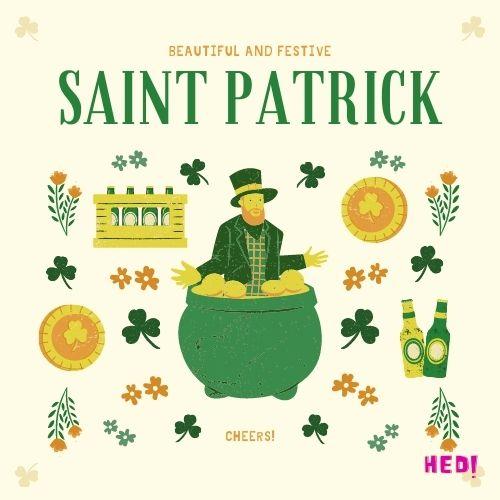 St patricks day greetings Card