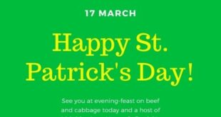 St patricks day greetings Card